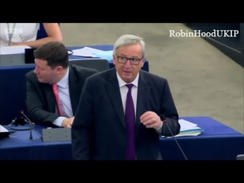 John Claude Juncker has a hissy fit and makes a fool of himself