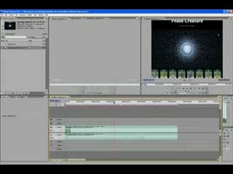 Adobe Premiere Pro CS3 tutorial 1 - Fade In and Out