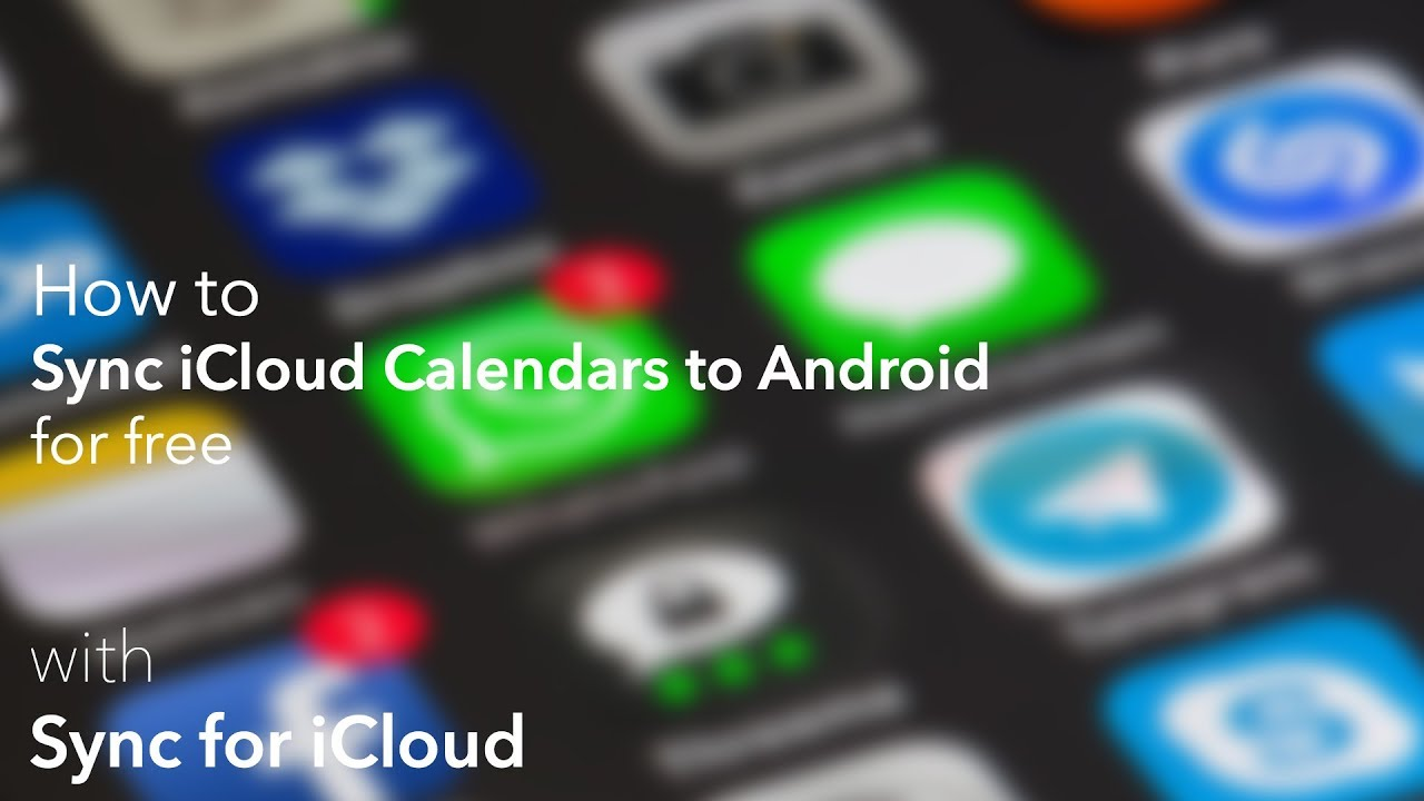 view icloud calendar on android