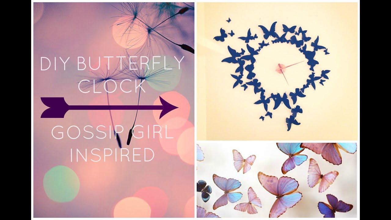 DIY Wall Decor Butterfly Clock
