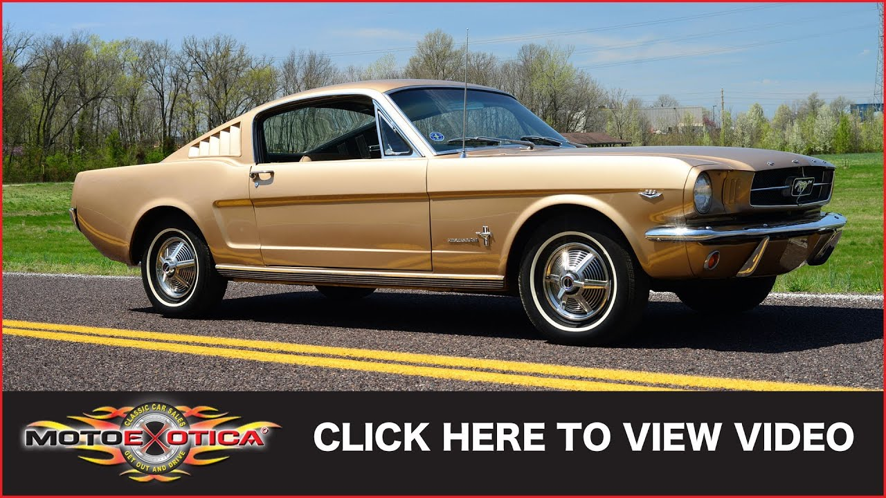 1965 Ford Mustang Fastback Sold Youtube