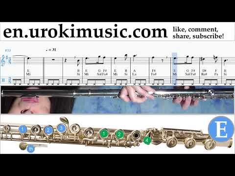 Flute lessons Harry Potter - Hedwig's Theme Sheet Music Tutorial um-i352