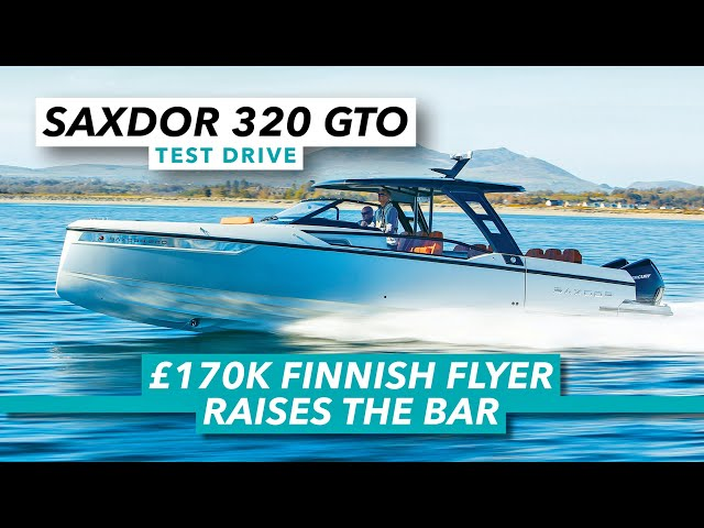 £170k Finnish flyer raises the bar   Saxdor 320 GTO test drive review   Motor Boat & Yachting