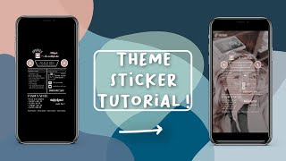HOW TO CREATE A THËME STICKER || Aesthetics With Me