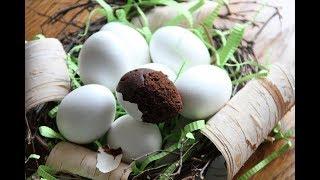 Кекс в яичной скорлупе . Пошаговый рецепт - шоколадный брауни в скорлупе.