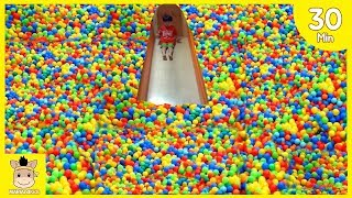 Indoor Playground Fun for Kids and Family Slide and More Colors Rainbow Balls Play| MariAndKids Toys