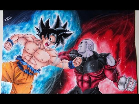 Speed Drawing Goku (Ultra Instinct) vs Jiren (Dragon Ball Super)
