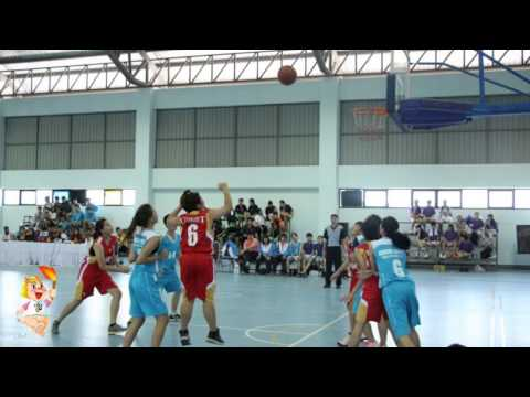 ผลการแข่งขันกีฬาบาสเกตบอลหญิง ประจำวันที่ 9 กุมภาพันธ์ พ.ศ.2558