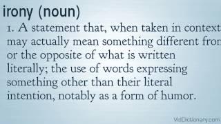 irony - definition
