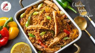 Mexican style Chicken Fajita rice  Chicken fajita rice recipe  Chicken fried rice