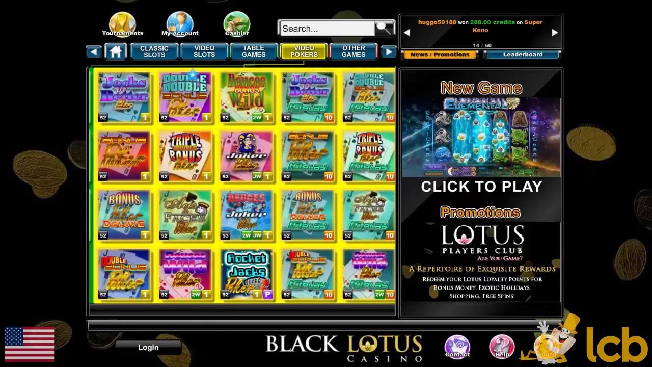 Black Lotus Casino Video Review Youtube