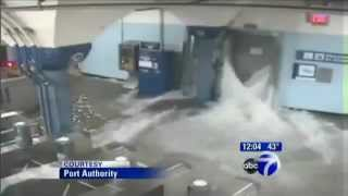 Hurricane Sandy, PATH flooding video released