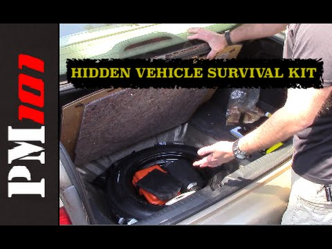 Simple Emergency Prepping 1: Hidden Vehicle Survival Kit  - Preparedmind101
