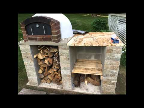 Dans APizza Oven - Wood Fired Pizza Oven - How to make - build a pizza oven - Brick oven - dome oven