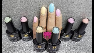 BLUESKY GEL POLISH PASTEL NEON SWATCHES | GEL NAILS UK HAUL | IdleGirl
