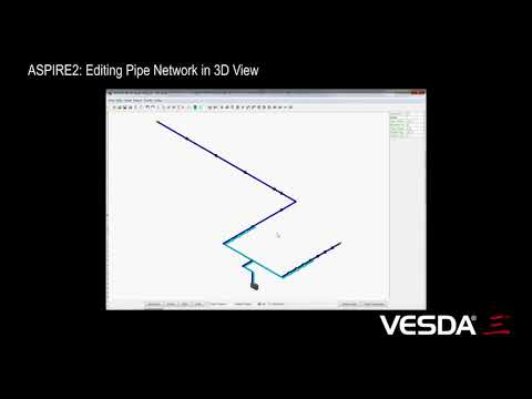 ASPIRE: Editing Pipe Network in 3D View