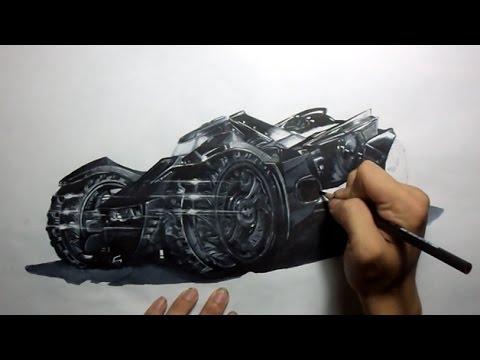 Batman Arkham Knight: Batmobile Drawing - YouTube