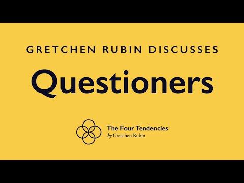 """Gretchen Rubin discussing """"Questioners"""""""
