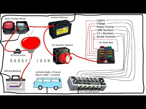 [DIAGRAM_5LK]  Complete 12v Campervan, RV, MotorHome, Boat Wiring Tutorial - YouTube | Campervan Wiring Diagram |  | YouTube