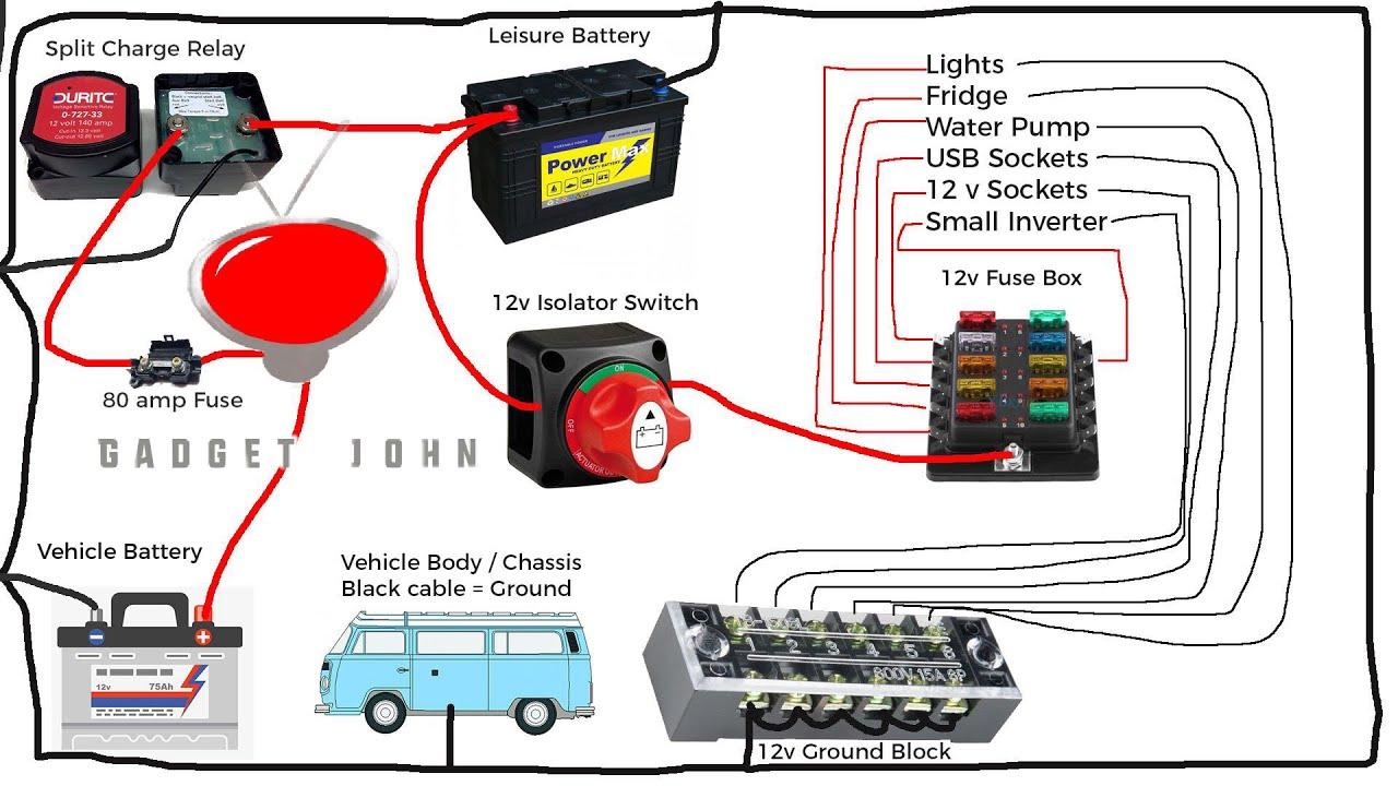 Caravan Consumer Unit Wiring Diagram Complete 12v Campervan Rv Motorhome Boat Wiring