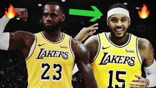 Should the Los Angeles Lakers SIGN Carmelo Anthony? | Playing with LeBron James & Lonzo Ball!