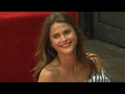 Keri Russell Shares Sweet PDA Moment With Mathew Rhys at Hollywood Walk of Fame Ceremony