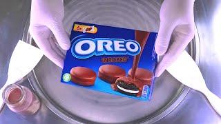 How to make OREO Chocolate Ice Cream Rolls with Oreos Enrobed Cookies - so yummy Ice Cream Recipe
