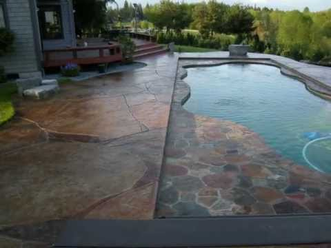 Decorative Concrete Pool With Hidden Pool Cover Youtube