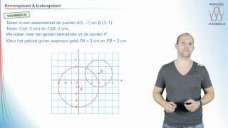 Cirkels-binnengebied & buitengebied-voorbeeld - WiskundeAcademie