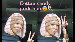 WATER DYING & INSTALLING PINK 613 FRONTAL WIG| Queen Beauty Hair
