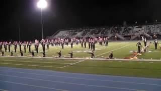 Thomas Jefferson Jaguar Marching Band at West Mifflin 10/30/2015
