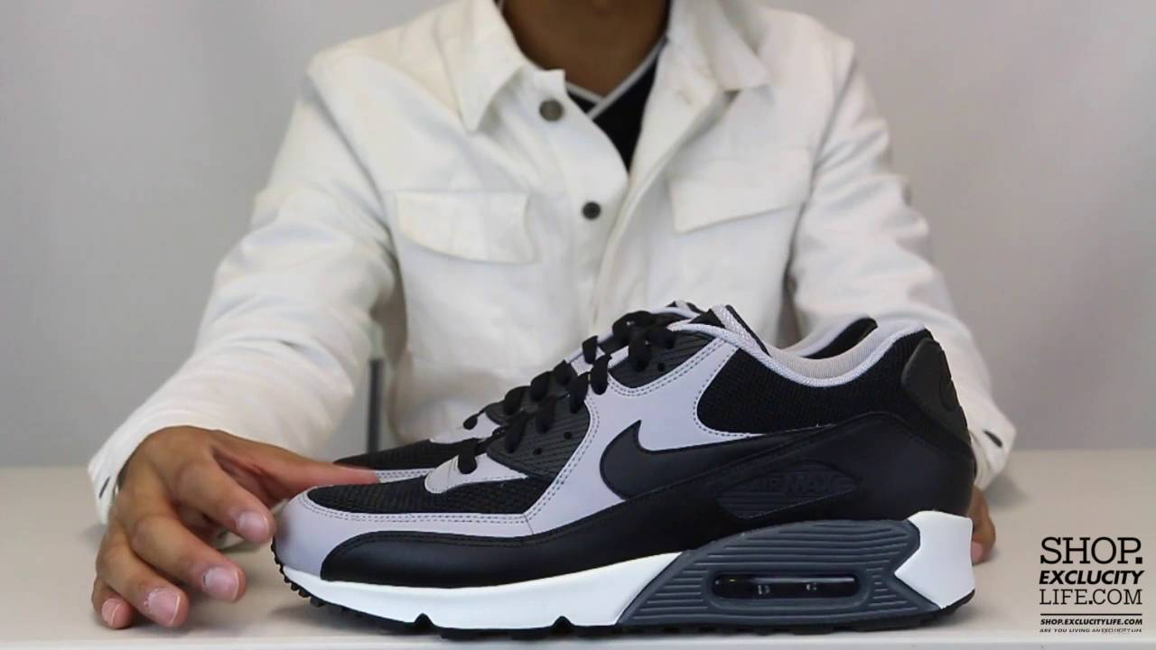 new product 17270 24c30 Air Max 90 Essential Black Wolf Grey Unboxing Video at Exclucity