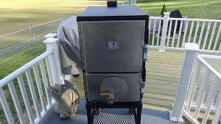 Burn In and Seasoning of My New Humphrey's Weekender Smoker