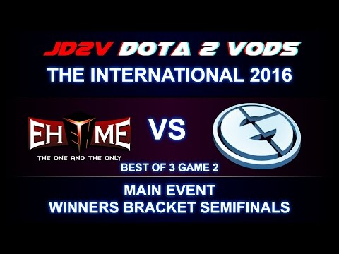EHOME vs EG TI6 The International 2016 Main event WB Semifinals Game 2 VOD DOTA 2