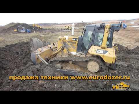 Толкающий САТ Д6, чего не сделает планировочный бульдозер / Cat D6N XL Push Dozer