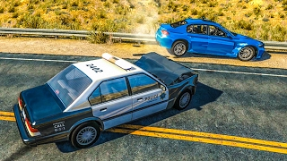POLICE CHASE GAMEPLAY #1 - BeamNG Drive