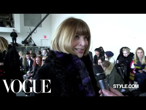 """Anna Wintour's NYFW Wrap Up: """"Trend is a Dirty Word"""" - New York Fashion Week Fall 2015 - Style.com"""