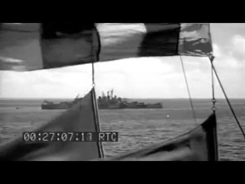 Invasion Of Saipan: TF 58 At Roi Harbor; DD Fuels From BB 6/12/1944 (full)