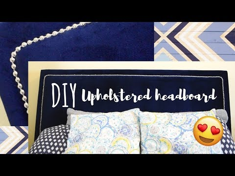 DIY Upholstered Headboard with Nailhead Trim!