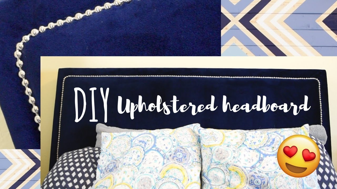 Making An Upholstered Headboard With Nailhead Trim Diy Upholstered Headboard With Nailhead Trim