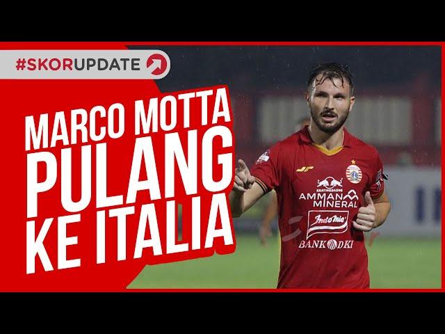 Marco Motta dan Pelatih Persija Pulang ke Italia