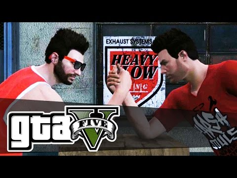 Grand Theft Auto 5 Online PC Gameplay - ARM WRESTLING! ...KINDA - (GTA 5) - Episode 3
