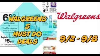 5 MUST DO WALGREENS DEALS 9/2 0 9/8 | FREE Razors, Cheap Paper products & more!