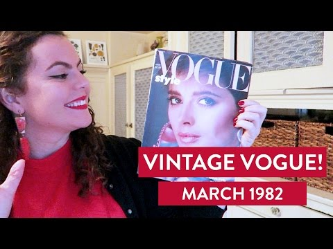 Let's Flip Through A VINTAGE ISSUE OF VOGUE From March 1982
