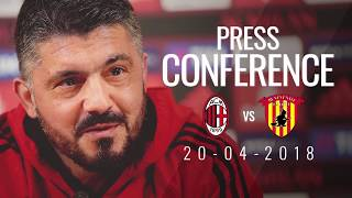 Gattuso's press conference in one minute ahead of #milanbenevento