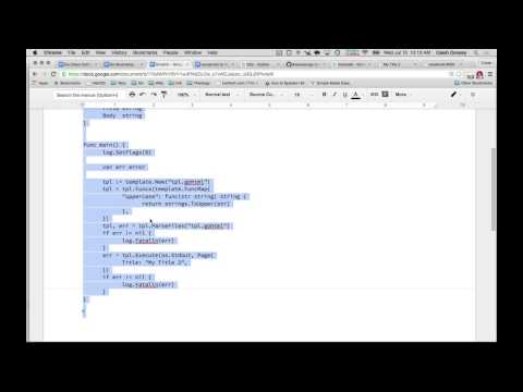 Golang HTML Templates