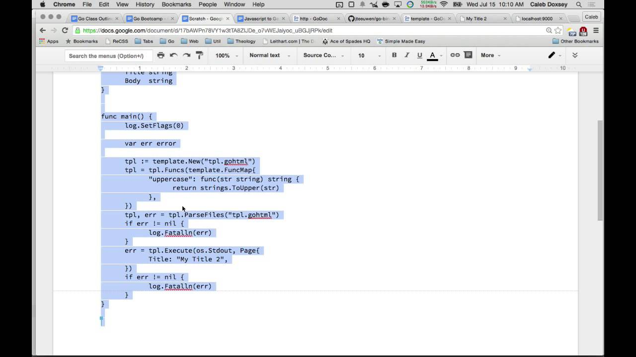 golang html templates youtube
