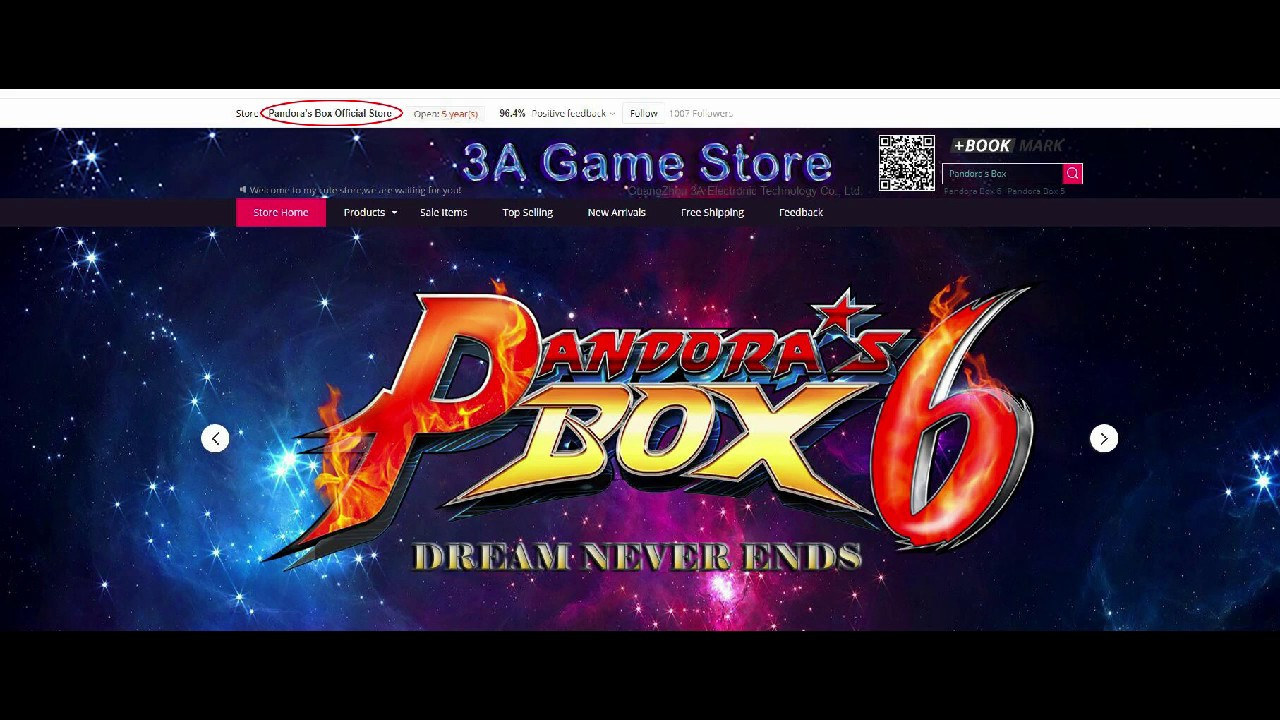 3A Game Store officially changed its name to Pandora's Box Official Store