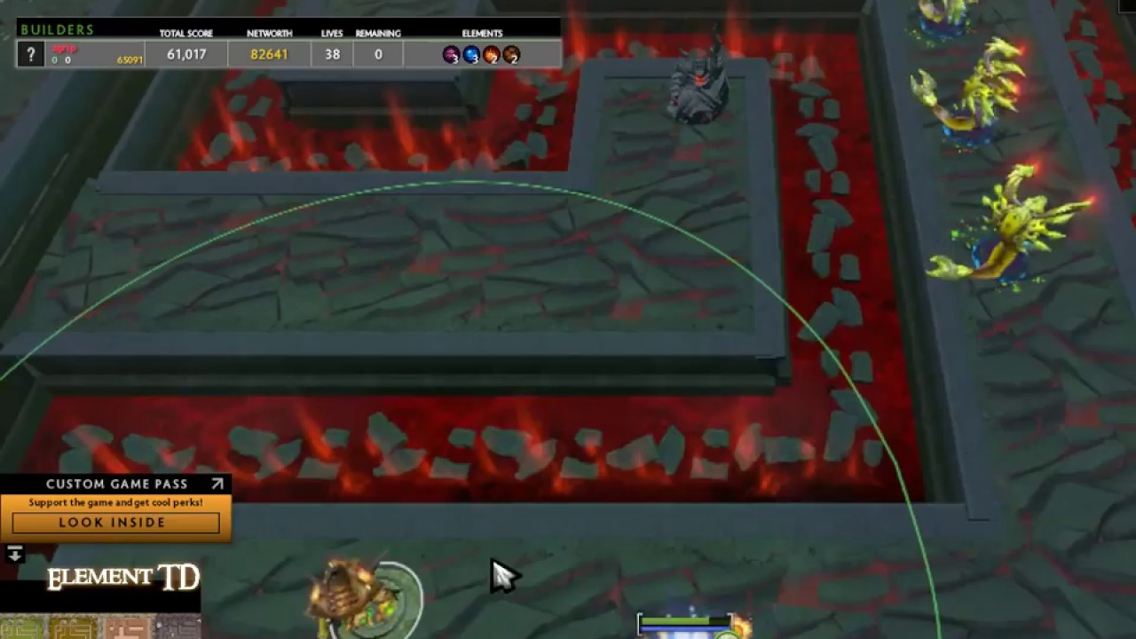 dota 2 element td kill 360 frogs latest version first in