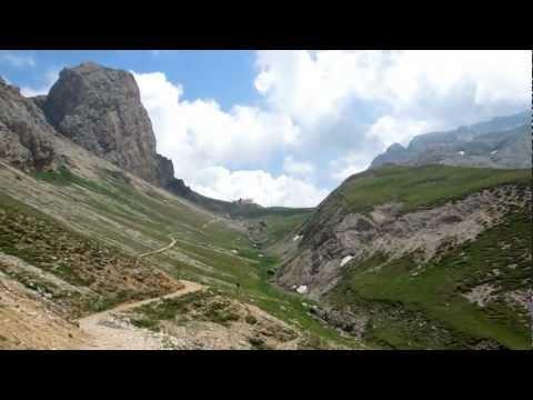 Südtirol Wanderung von Tierser Alphütte zum Schlernmassiv